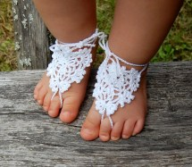Crochet Baby Barefoot Sandals Anklet Foot Jewelry