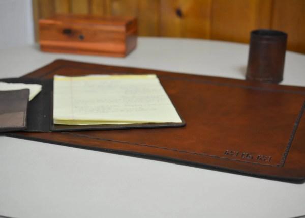 Leather Desk Pad Blotter