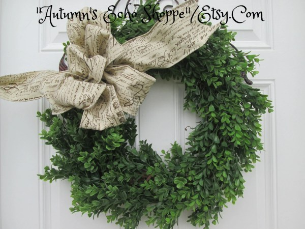 Boxwood Wreaths French Doors
