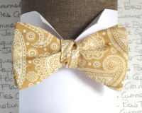 Self tie bow tie gold paisley bow tie bow ties for men