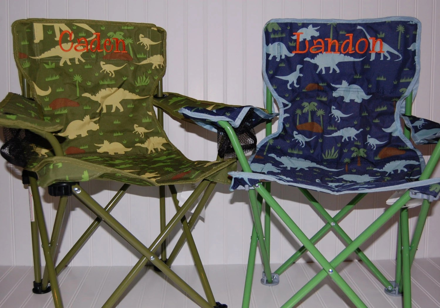 Personalized Boys Toddler FoldingCamping Chair Dinosaur