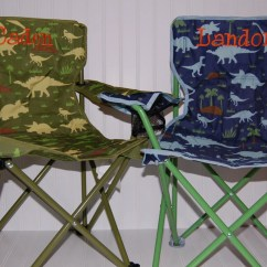 Personalized Camping Chairs French Antique Boys Toddler Folding Chair Dinosaur