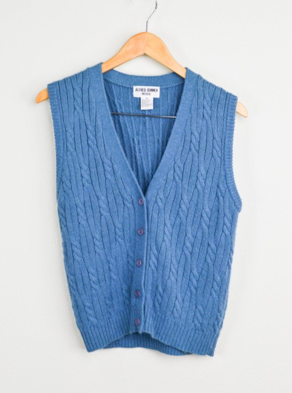Cable Knit Sweater Vest Vintage Clothing