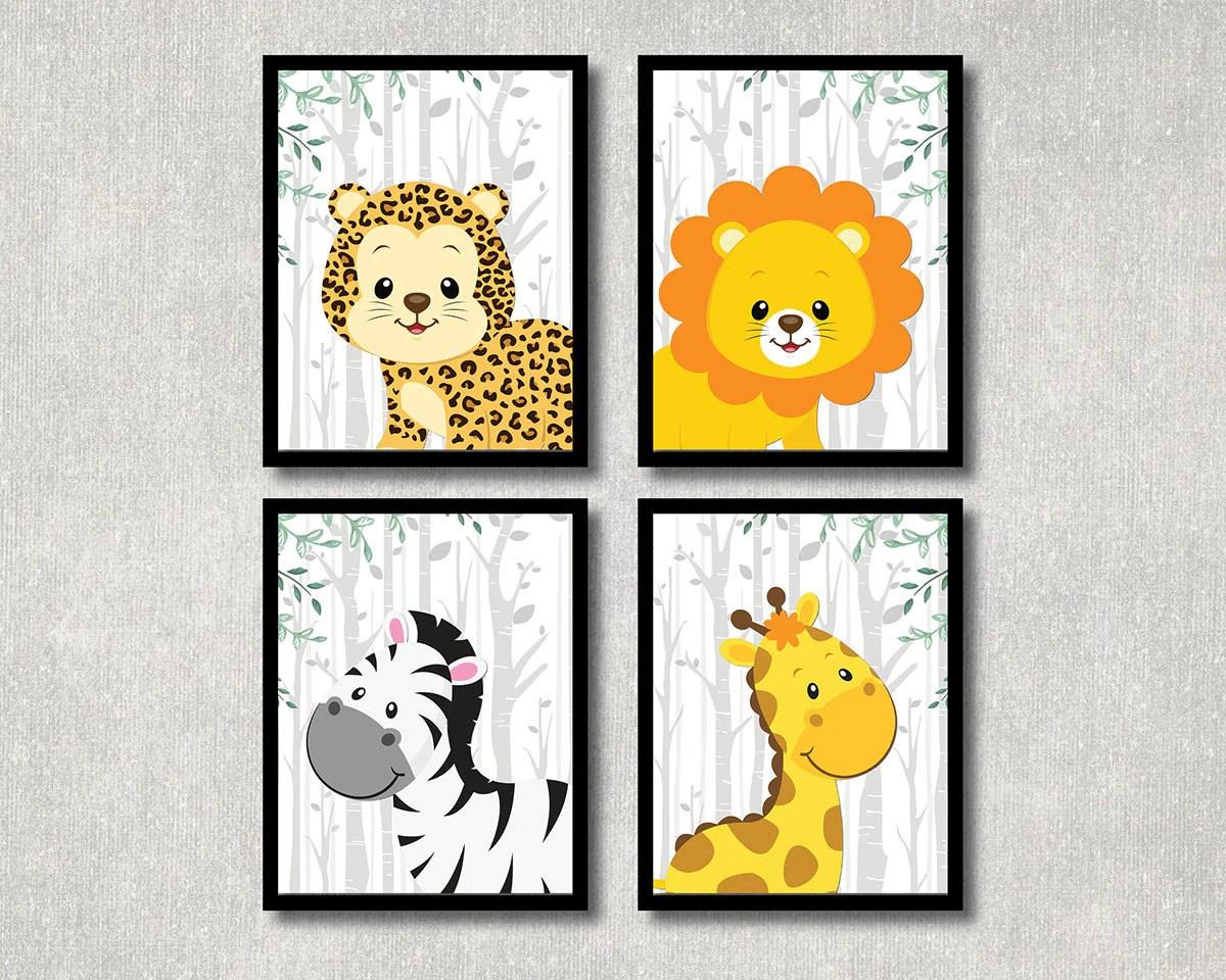 Safari Animals Set Nursery Printable Jungle Theme Children