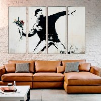 Graffiti street art Flowers Banksy Wall Decor banksy print