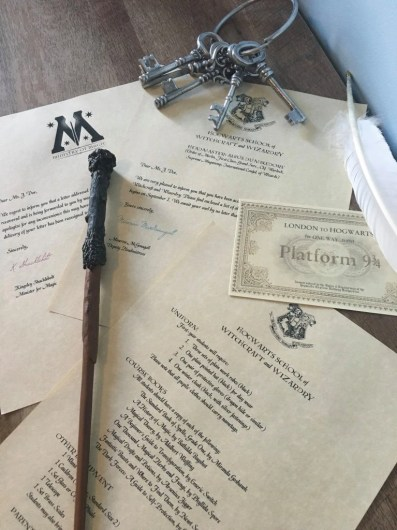 Harry Potter Hogwarts Acceptance Letter and Hogwarts Express Ticket -30+ Harry Potter Gift Ideas for the Harry Potter Lover in your life. This gift guide includes clothing, home decor, food and anything else Harry Potter!