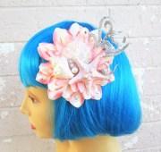 pink starfish mermaid hair clip