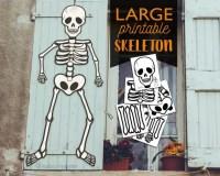 Large Multi Page Printable Skeleton halloween Door or