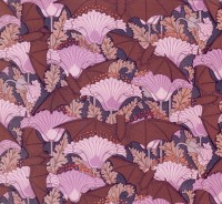 antique french art nouveau wallpaper design poppy flower and
