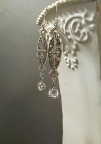 Great Gatsby Earrings 1920s Jewelry Vintage Style Wedding