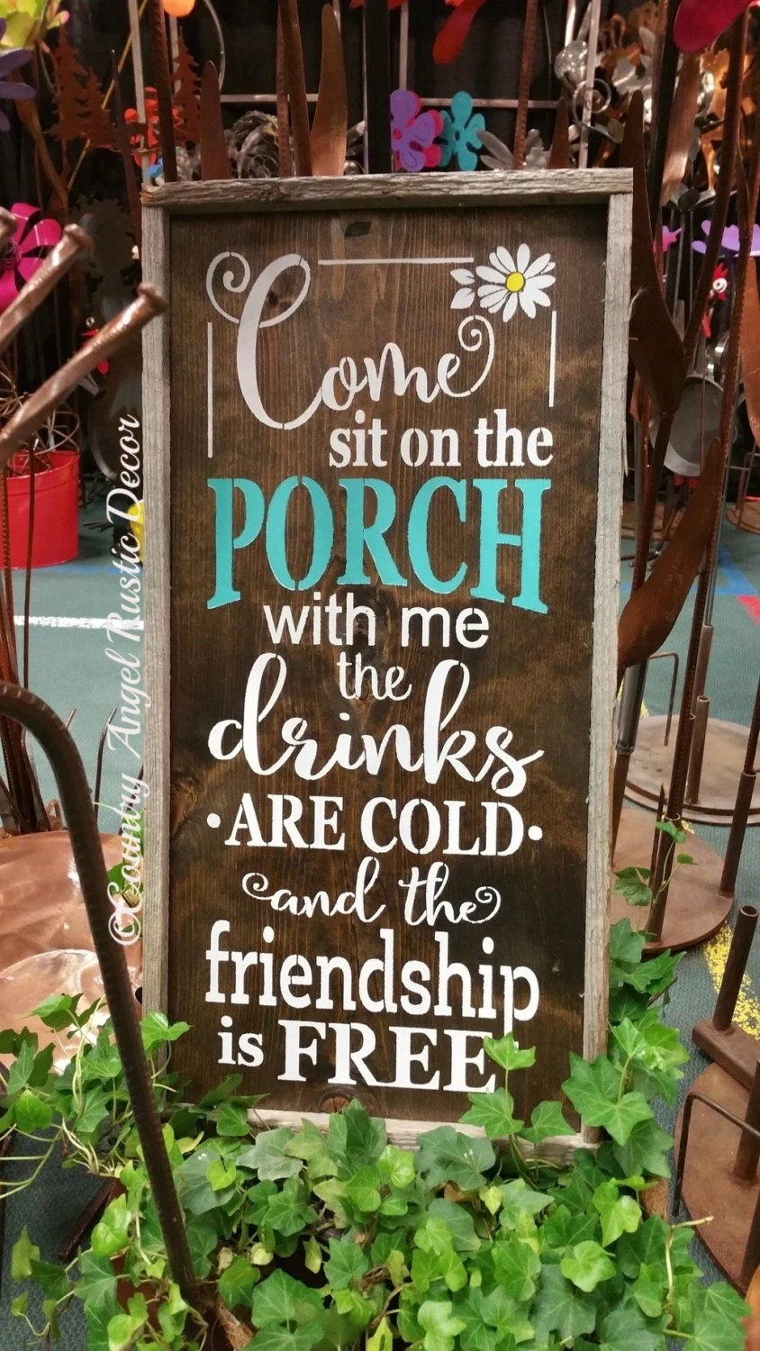 Come sit on the Porch with meRustic PORCH