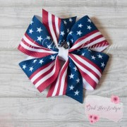 red white and blue hair bow patriotic