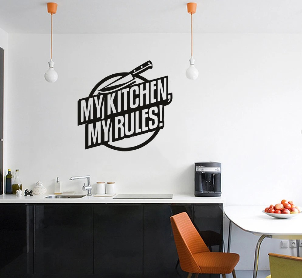 Kitchen rules decal  Etsy