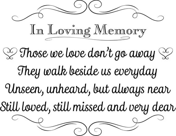 Printable Wedding Sign In Loving Memory Instant Download 3