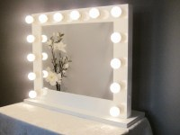 cordless led lighted 10x magnifying vanity mirror ...