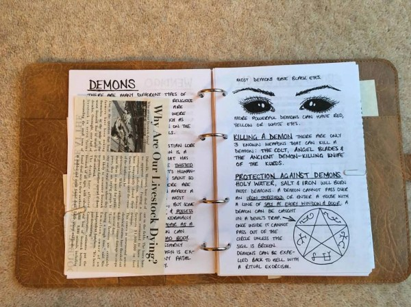 John Winchester' Journal Pages