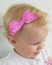 pink bow headband hair