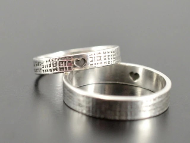 Matching rings Set of 2 rings Mother daughter ring Promise