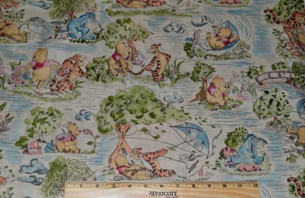 Disney Pooh Fabric 1 2 Yard Quilting Winnie