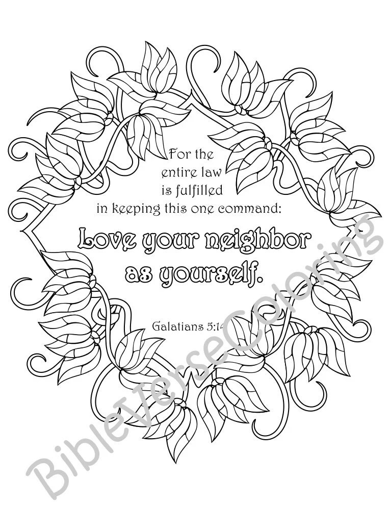 Love Your Neighbor As Yourself Coloring Page Coloring Pages