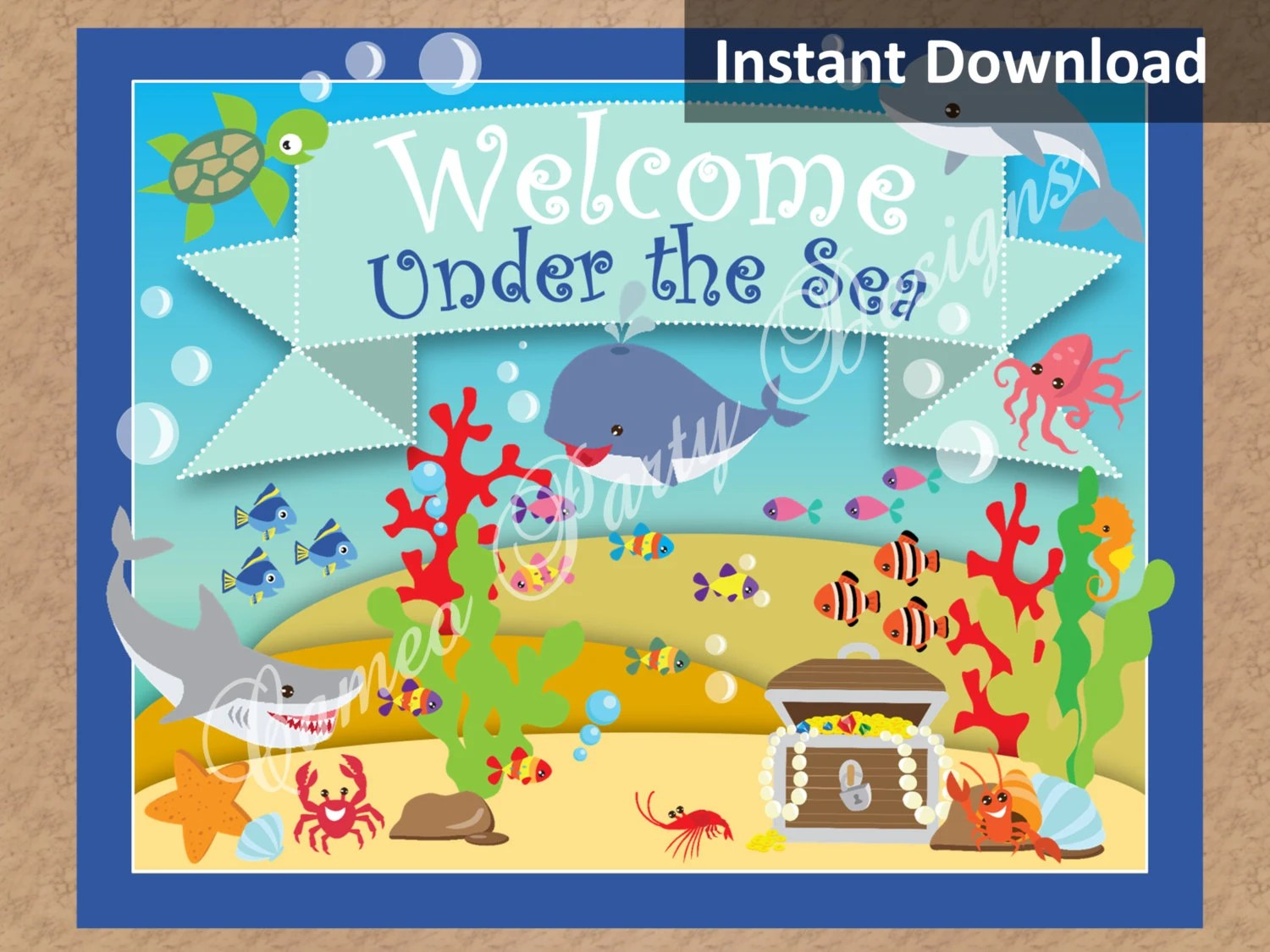 Under The Sea Party Sign Under The Sea Party Decorations