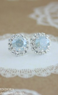 Blue bridal earringssomething bluedusty blue by ...
