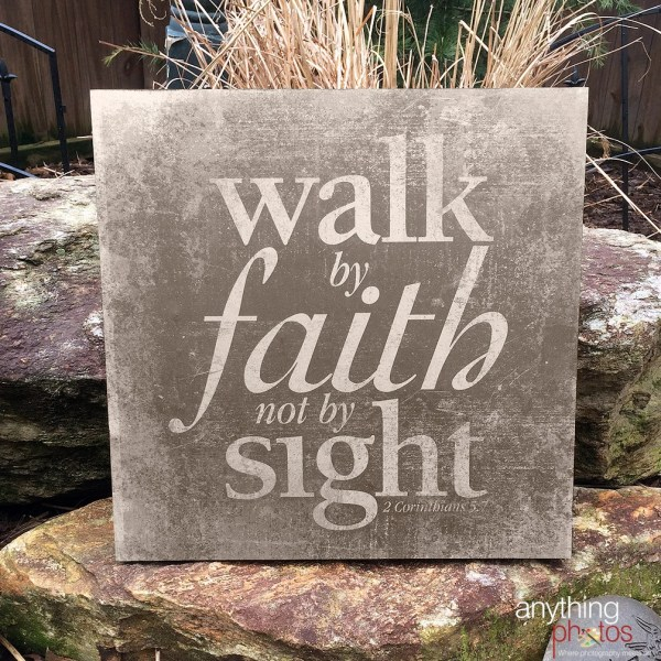 Walk Faith Sight 2 Corinthians Bible Verse Art