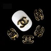 chanel logo nail charm 2pcs
