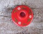 Swedish Vintage Wooden Candlesticks; Red Painted Wood Candle Holder; Scandinavian Design Home Decor; Floral Candle Holder; Vintage Gift idea