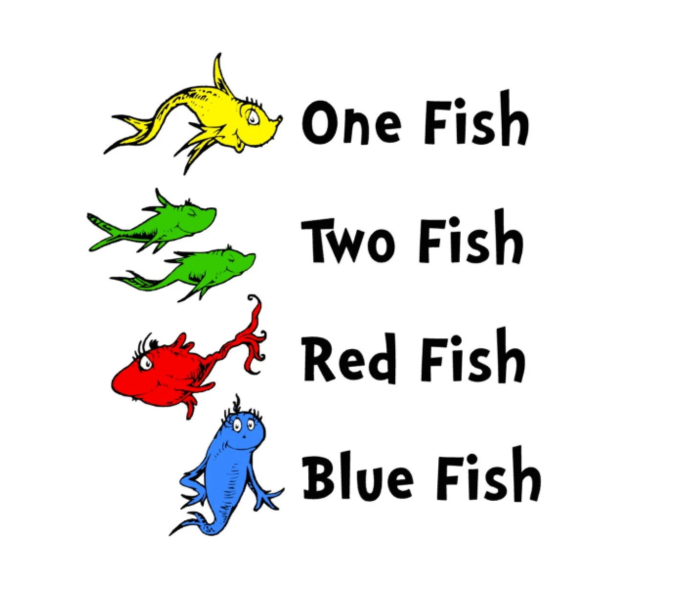 Dr Suess Coloring Page One Fish Two Fish