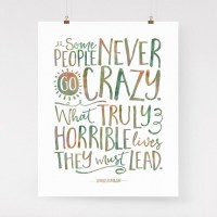 Charles Bukowski quote wall art go crazy art print colorful