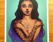 irish girl black hair green eyes