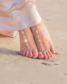 Crystal Beach Wedding Barefoot Sandals