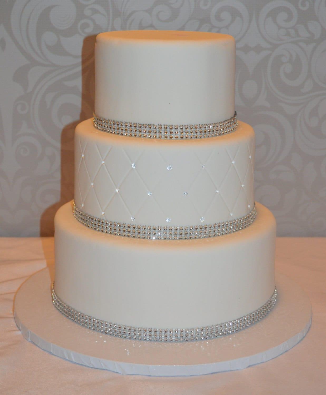 Three Tier Fondant Faux Wedding Cake Fake Wedding Cake