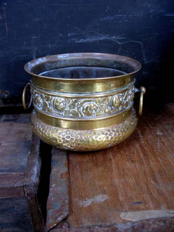 Brass Plant Pot Vintage Planter