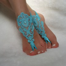 Turquoise Sandals for Beach Wedding