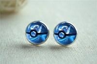 Pokeball earrings | Etsy