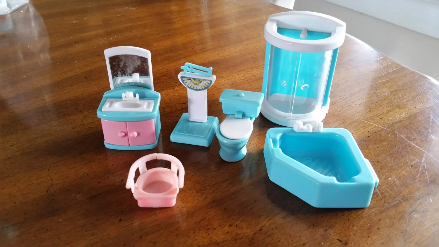 small plastic chair french style pretend play dollhouse furniture bathroom set
