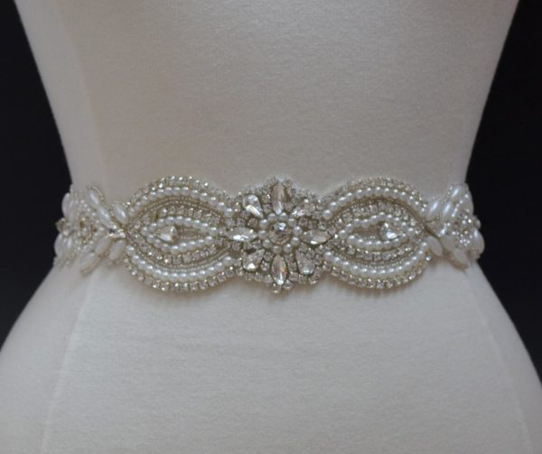 Crystal Rhinestone Applique Bridal Trim