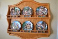 6 plate Wall Mounted Decorative Plate Holder