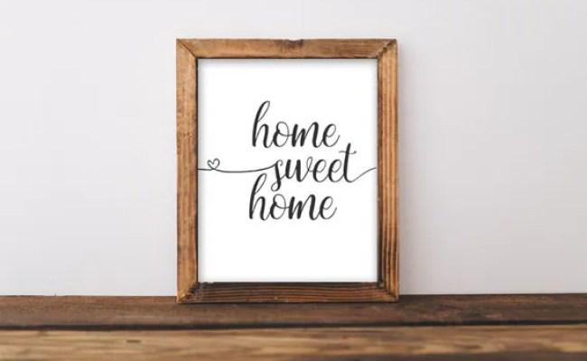 Printable Wall Art Home Sweet Home By Gracielouprintables
