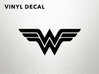 Wonder Woman Decal Vinyl Decal Wall Decal by DungeonsAndDecals