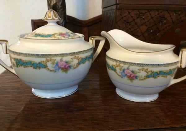 Vintage Althea Noritake Sugar Bowl And Creamer