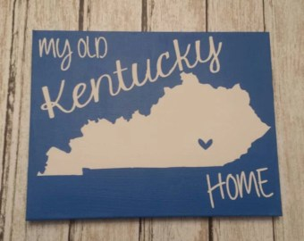 My Old Kentucky Home State Canvas Pride Painting