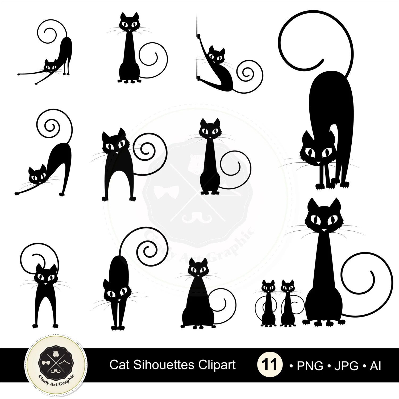 Cat Silhouettes Clipart 1 Cat Clipart Black Cat