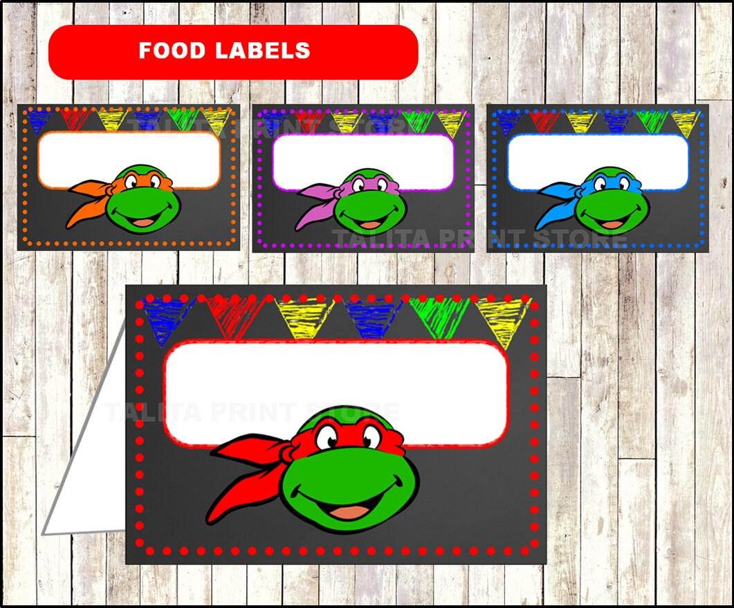 Ninja Turtles Chalkboard Food Labels Printable Ninja Turtles