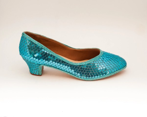 Sequin Sky Blue French High Heels Pumps Dress Shoes