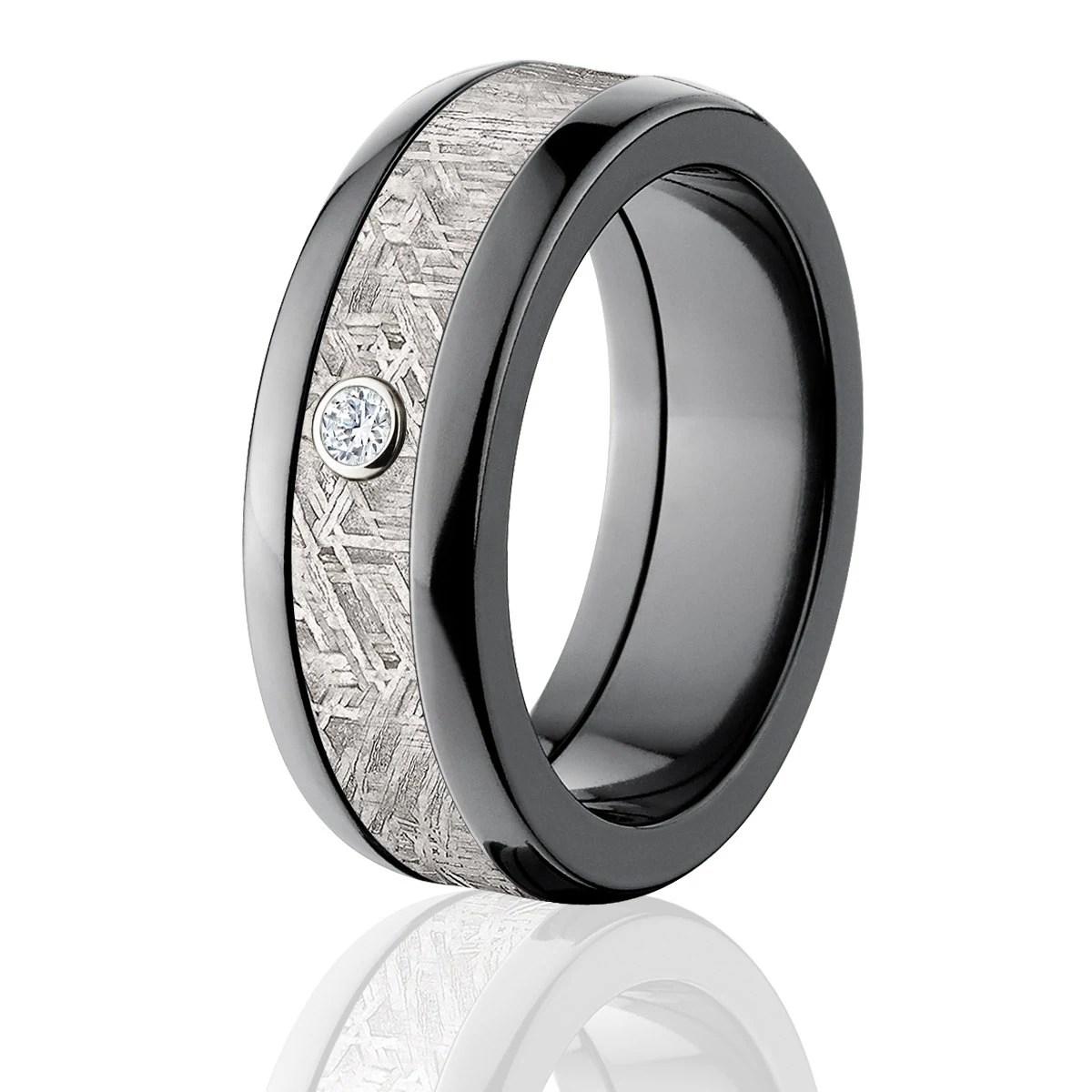 New Meteorite Rings Diamond Meteorite Wedding Bands