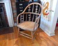 Antique 1800's Pine Captain's Chair by JoeBlake on Etsy