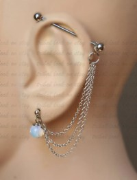 Industrial Barbell Industrial piercing Ear gauges Jewelry